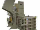 Closed-end horizontal baler
