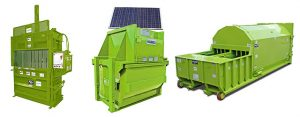 GreenBuilt solar powered waste handling equipment options