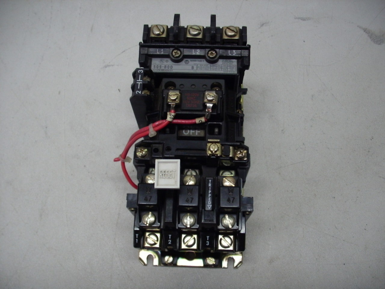 03 0211 motor starter size 1 allen bradley for Allen bradley manual motor starter