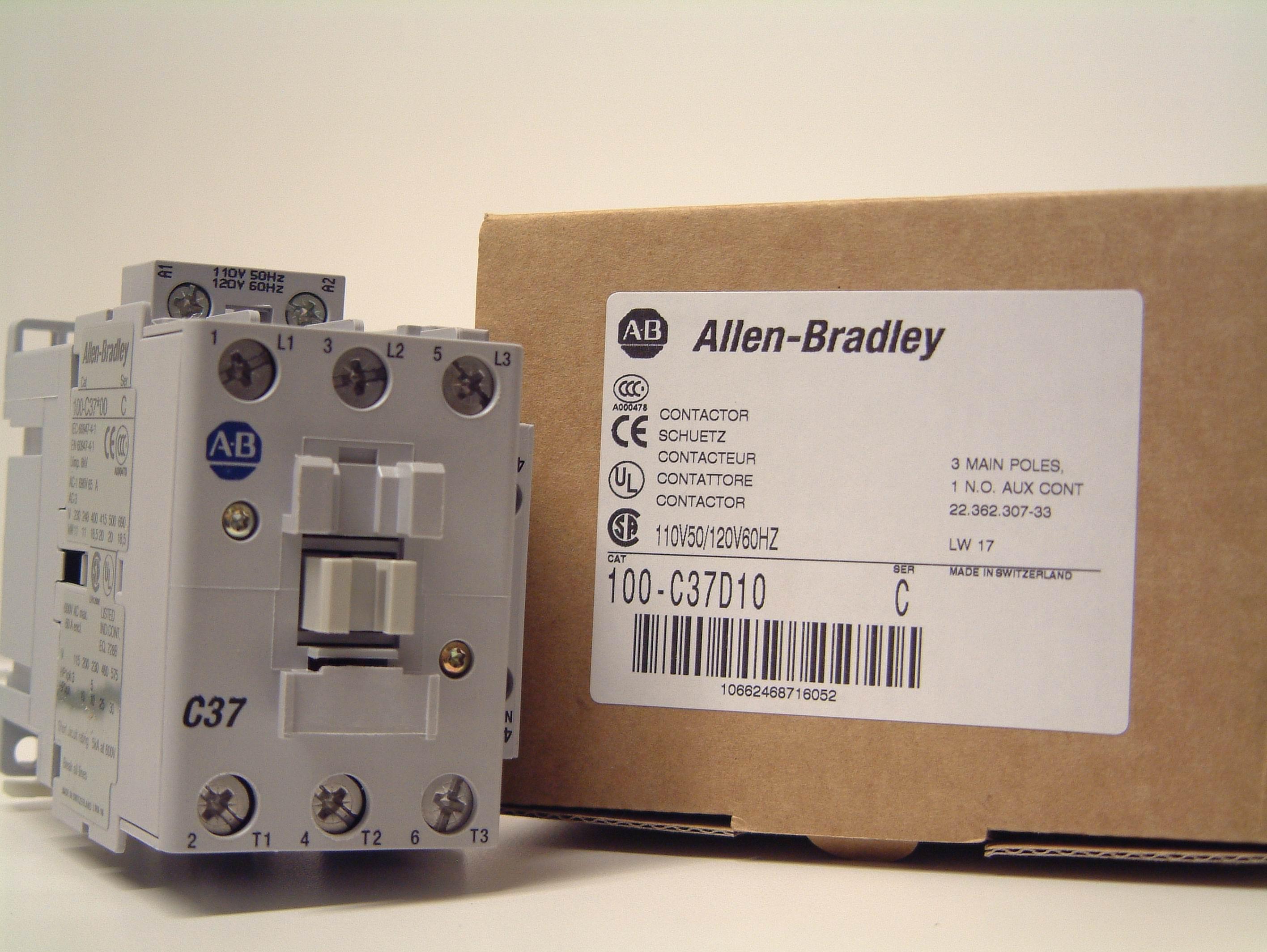 03 1676 Motor Starter Iec Contactor 37 Amp Ab