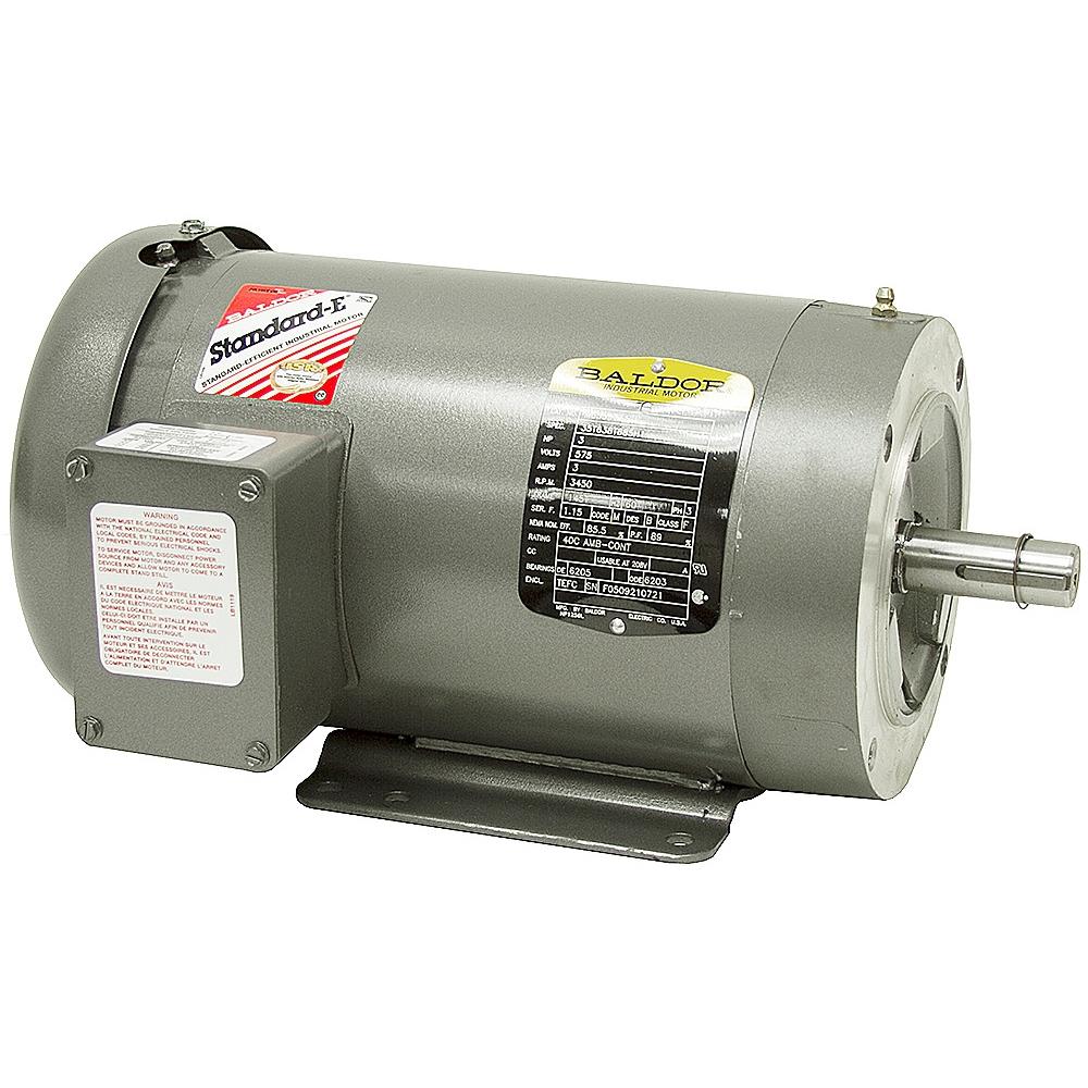 03 1134 motor 3hp 3 phase 208 230 460 for Baldor motor serial number lookup