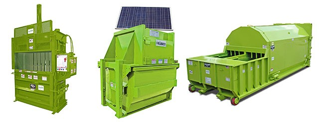 solar powered recycling equipment